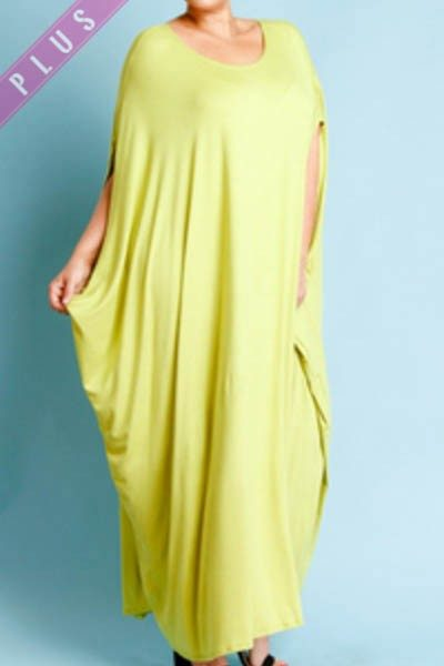 Lime Green Kaftan Dress - Double Take Fashions Studio For Men and ...