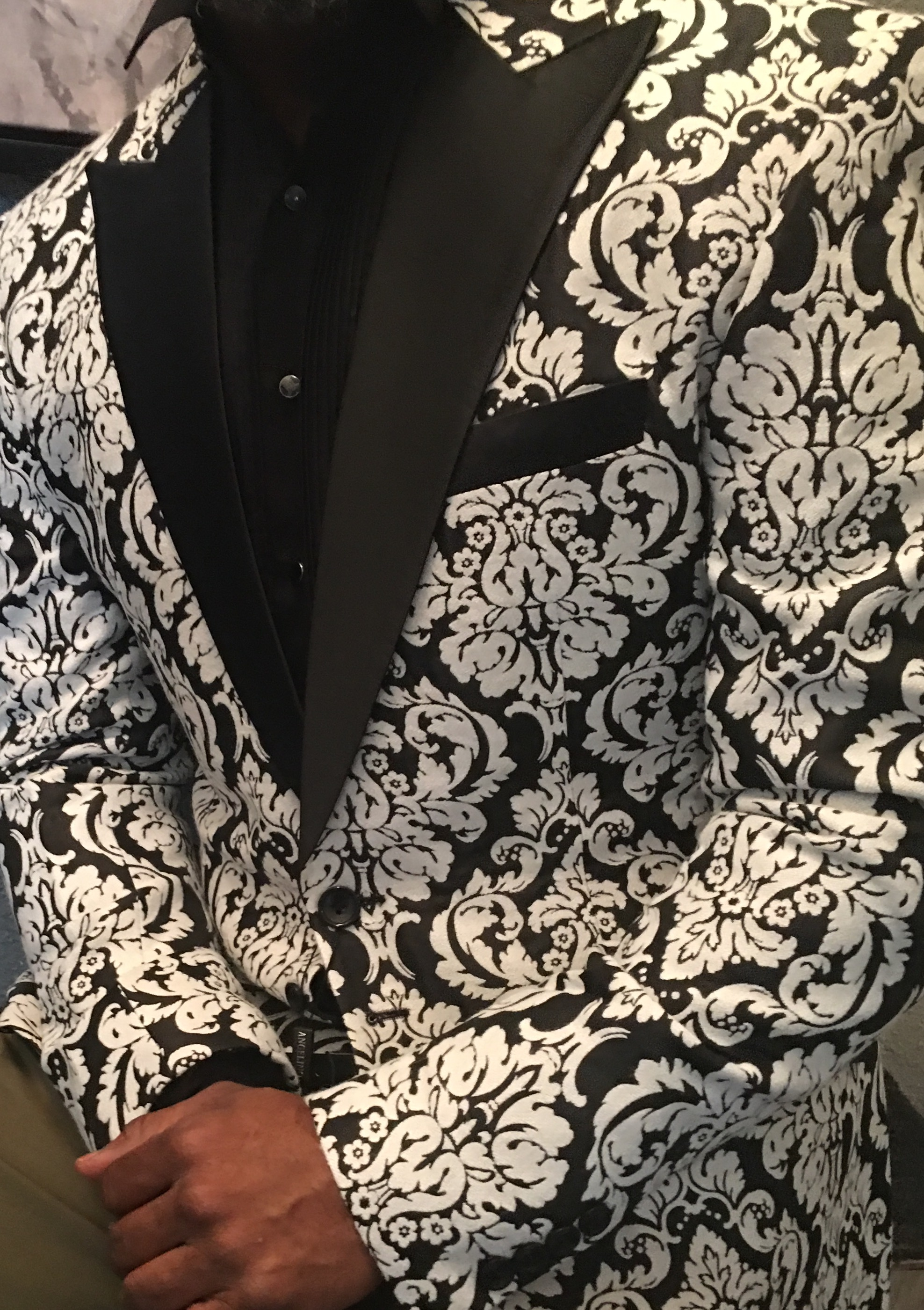 Black and White Suit Jacket -1